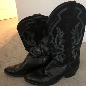 Justin Men's Lizard and Leather boots #8313